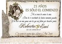 placa grabada bodas de plata